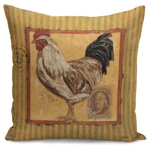 Pillow Cover- NEW- Barn Farm Chicken Rooster